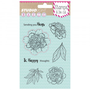 Stamp & Die cut, Sending you Hugs BASIC, A6 / 105 x 148 mm, 8 - teilig, transparent 02